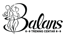 Balans trening centar logo - crni koloritet